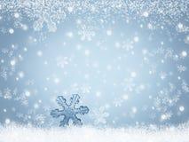 Paisaje abstracto del invierno del fondo con los copos de nieve que caen en nieve stock de ilustración