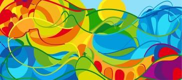 Paisaje abstracto del verano Imagen de archivo libre de regalías