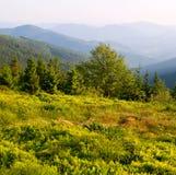 Paisaje acodado de las montañas Imagenes de archivo