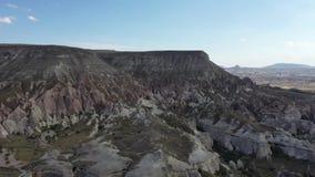 Paisaje adecuado de Turquía Cappadocia, tirando de abejón almacen de metraje de vídeo