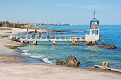 Paisaje adriático de la costa Imagen de archivo