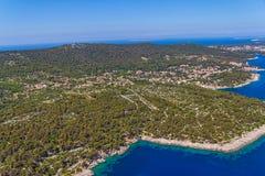 Paisaje adriático - isla Losinj Fotos de archivo