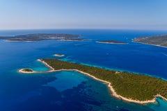 Paisaje adriático - isla Losinj Imagen de archivo libre de regalías