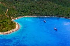 Paisaje adriático, península de Peljesac en Croacia Imagen de archivo libre de regalías