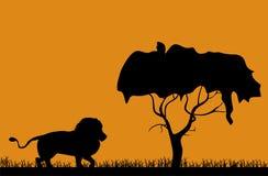 Paisaje africano stock de ilustración