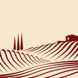 Paisaje agrícola libre illustration