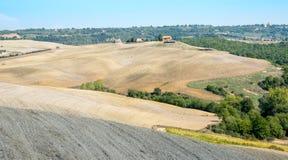 Paisaje agrícola del área de Toscana, Italia Fotos de archivo