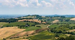 Paisaje agrícola en Toscana foto de archivo