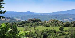 Paisaje agrícola en Toscana Imagenes de archivo