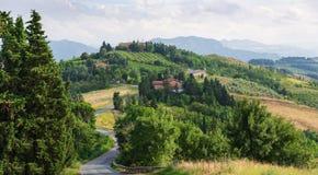 Paisaje agrícola en Toscana Italia imagen de archivo libre de regalías