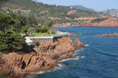 """Paisaje agradable en el  del coast†del """"blue en Francia Fotos de archivo"""