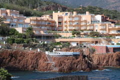 """Paisaje agradable en el  del coast†del """"blue en Francia Fotografía de archivo libre de regalías"""