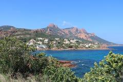 """Paisaje agradable en el  del coast†del """"blue en Francia Imágenes de archivo libres de regalías"""