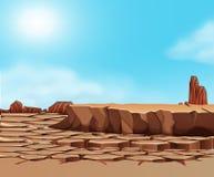 Paisaje agrietado del desierto de la sequ?a libre illustration