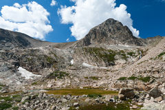 Paisaje alpestre de la tundra fotografía de archivo libre de regalías