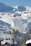 Paisaje alpestre de las cuestas Fotos de archivo