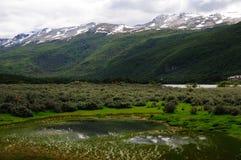 Paisaje alpestre de Tierra del Fuego Foto de archivo libre de regalías