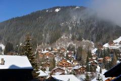 Paisaje alpestre del invierno foto de archivo libre de regalías