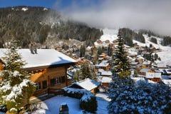 Paisaje alpestre del invierno imagen de archivo libre de regalías