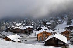 Paisaje alpestre del invierno Imágenes de archivo libres de regalías