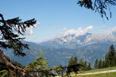 Paisaje alpestre en Austria Imagenes de archivo