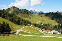 Paisaje alpestre hermoso en Austria fotografía de archivo