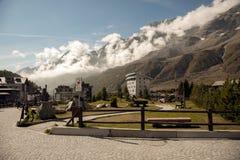 Paisaje alpino cerca de Cervino, Breuil-Cervinia, Italia Foto de archivo libre de regalías