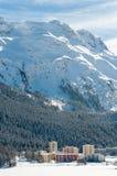 Paisaje alpino de la montaña de St Moritz, montañas Imagen de archivo libre de regalías