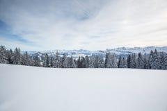 Paisaje alpino del invierno espléndido foto de archivo libre de regalías