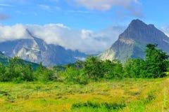Paisaje alpino del Parque Nacional Glacier Imágenes de archivo libres de regalías