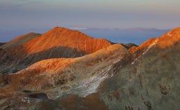 Paisaje alpino en el parque nacional Retezat Foto de archivo