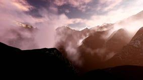 Paisaje alpino en las montañas almacen de metraje de vídeo
