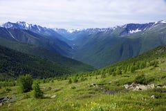 Paisaje alpino en las montañas de Altai, julio de 2016 Imagen de archivo