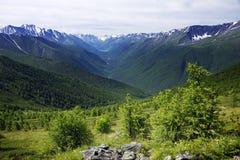 Paisaje alpino en las montañas de Altai, julio de 2016 Imagen de archivo libre de regalías