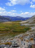 Paisaje alpino hermoso en Rocky Mountains, Colorado donde se localizan muchos 13ers y 14ers Fotos de archivo libres de regalías