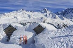 Paisaje alpino Nevado foto de archivo libre de regalías