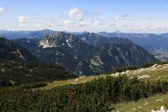 Paisaje alrededor de la montaña Hoher Krippenstein, Salzkammergut, Salzburg, Austria Foto de archivo
