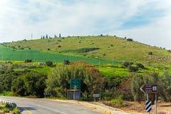 Paisaje alrededor del mar de Galilea - lago Kinneret Imagenes de archivo