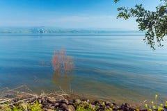 Paisaje alrededor del mar de Galilea - lago Kinneret Fotografía de archivo