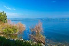 Paisaje alrededor del mar de Galilea - lago Kinneret Foto de archivo libre de regalías