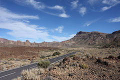 Paisaje alrededor del soporte Teide Foto de archivo libre de regalías