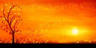 paisaje-anaranjado-del-%C3%A1rbol-de-la-tarde-14022334