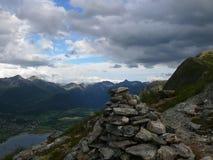 Paisaje Andalsnes Nesaksla de Noruega Foto de archivo