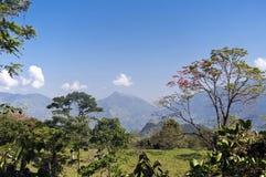 Paisaje andino colombiano de la montaña Foto de archivo libre de regalías