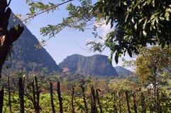 Paisaje andino colombiano de la montaña Fotos de archivo
