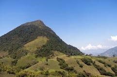 Paisaje andino colombiano de la montaña Imagen de archivo