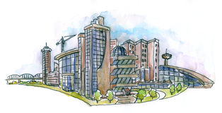 Paisaje arquitectónico libre illustration