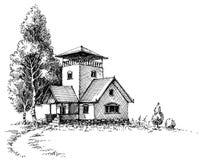 Paisaje artístico rústico libre illustration