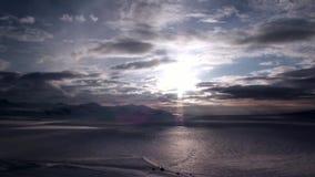 Paisaje asombroso del desierto del hielo en el ártico almacen de metraje de vídeo