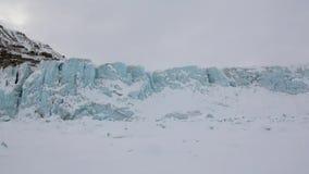 Paisaje asombroso del desierto del hielo en el ártico almacen de video